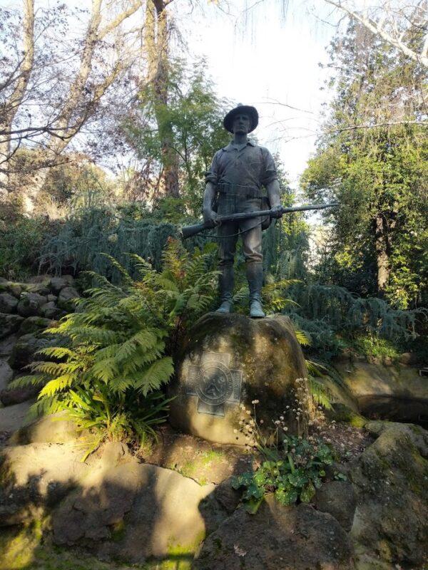 Spanish American War Sculpture in Sacramento Capitol park