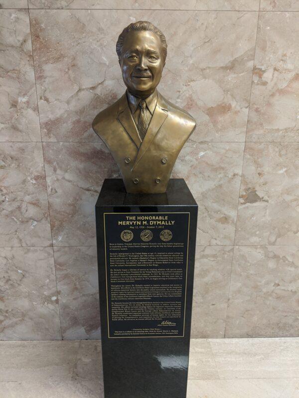 Mervyn M Dymally Sculpture (bust)