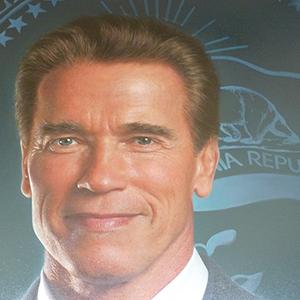 Arnold Schwarzenegger portrait in Sacramento Capitol Building