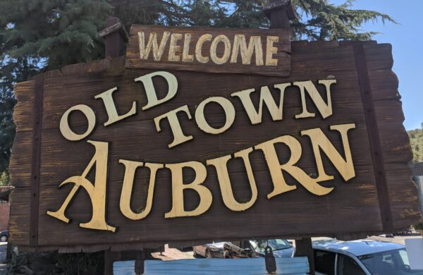 Welcome to Old Town Auburn sign