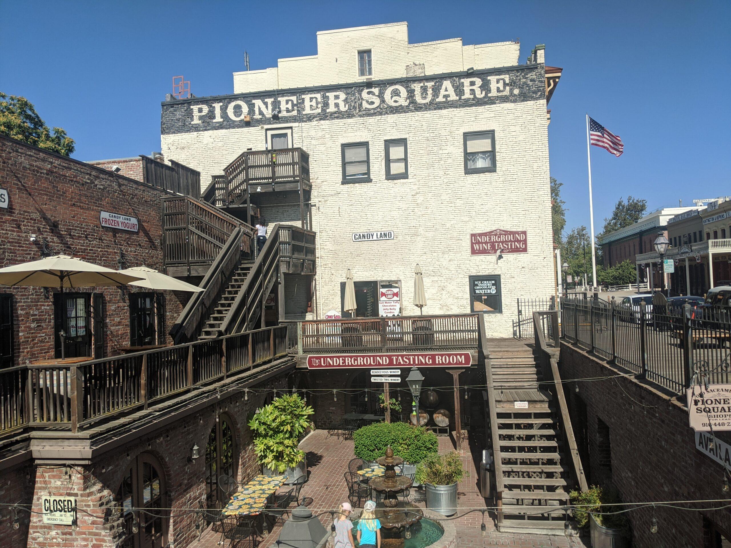 Pioneer Square in Old Sacramento