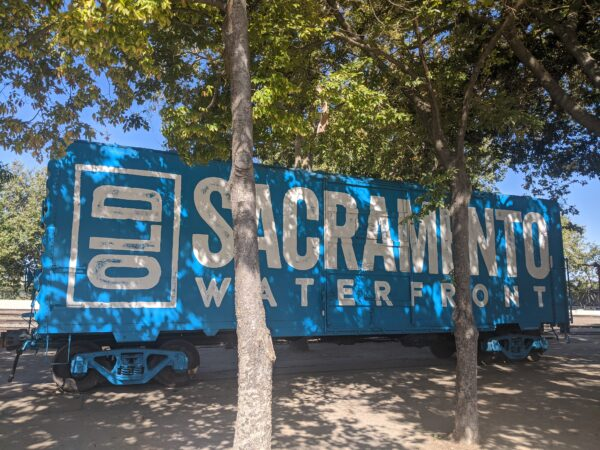 Train car in Old Sacramento Waterfront district