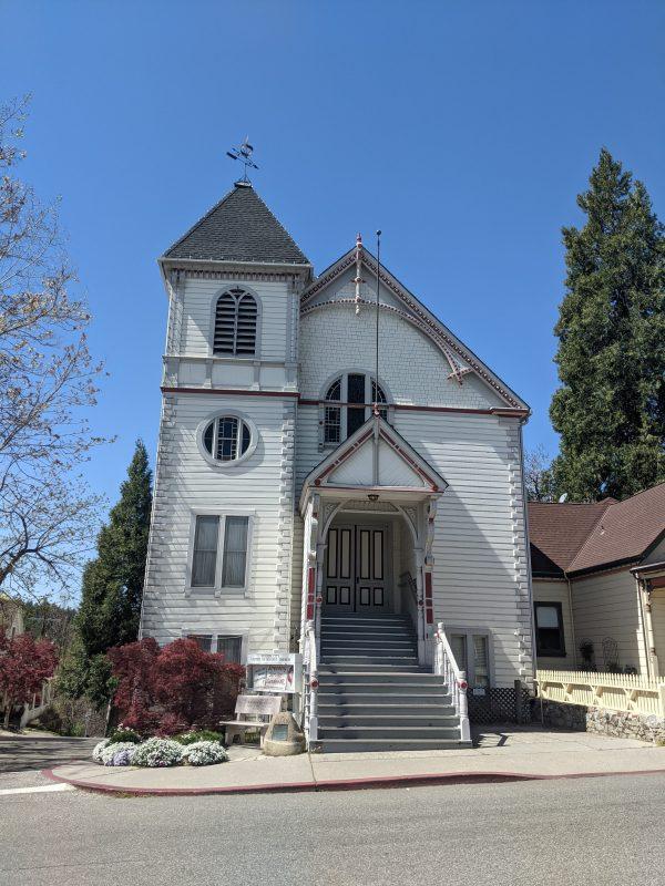 historic church in Nevada City