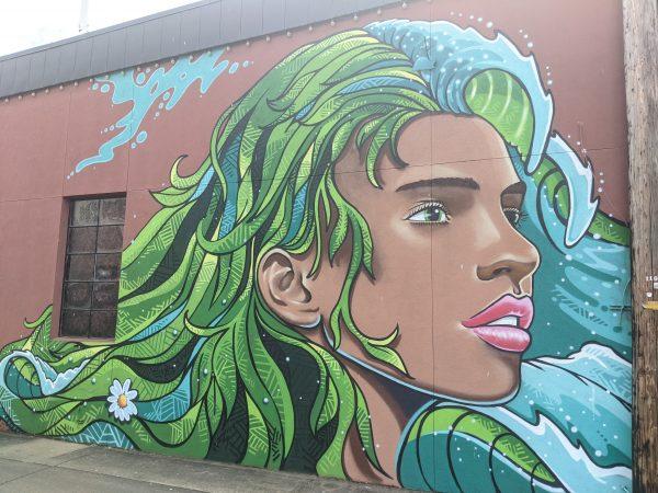 grafitti art mural in Corvallis Oregon