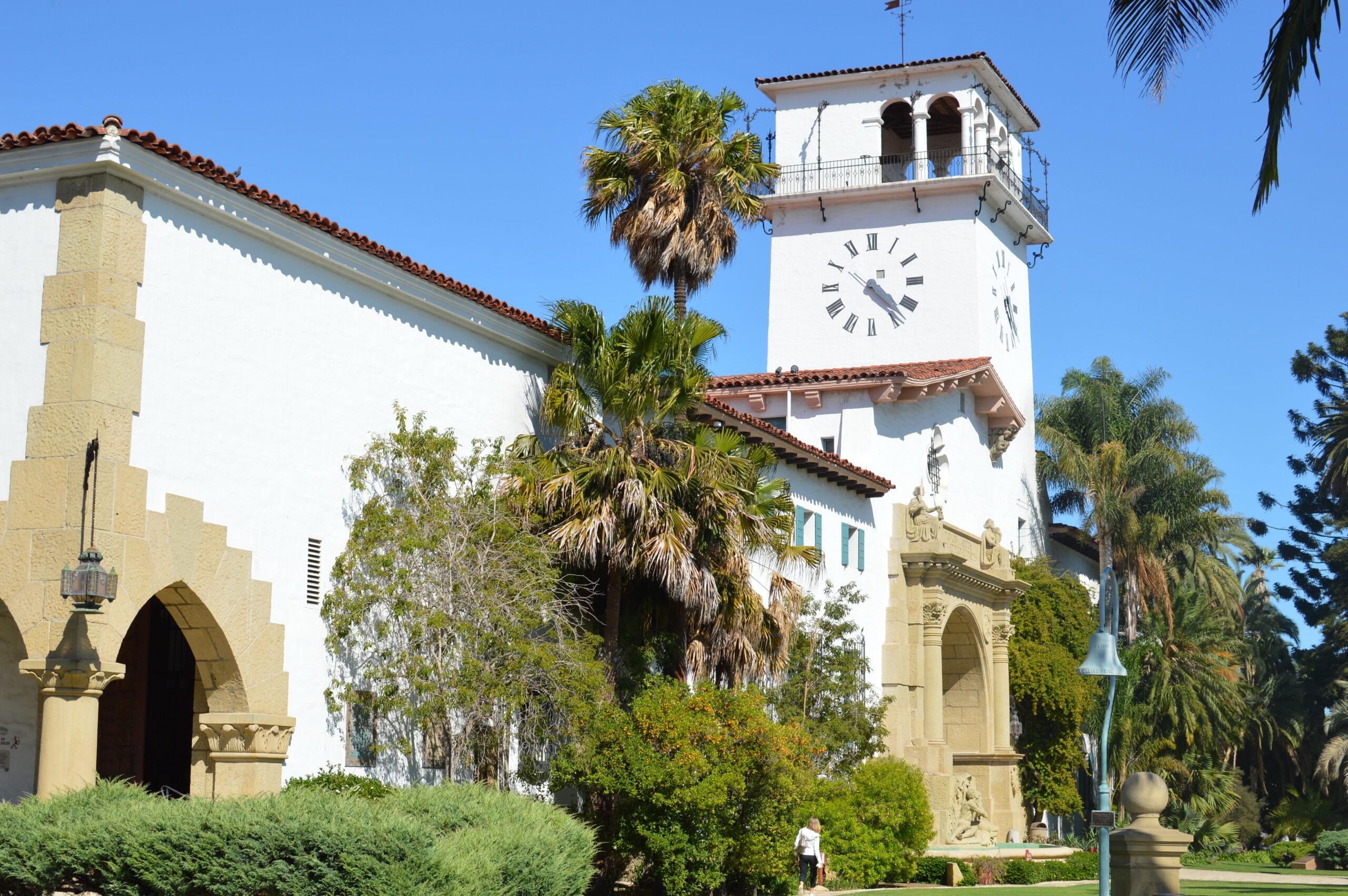 Santa Barbara County Courthouse and Clock Tower