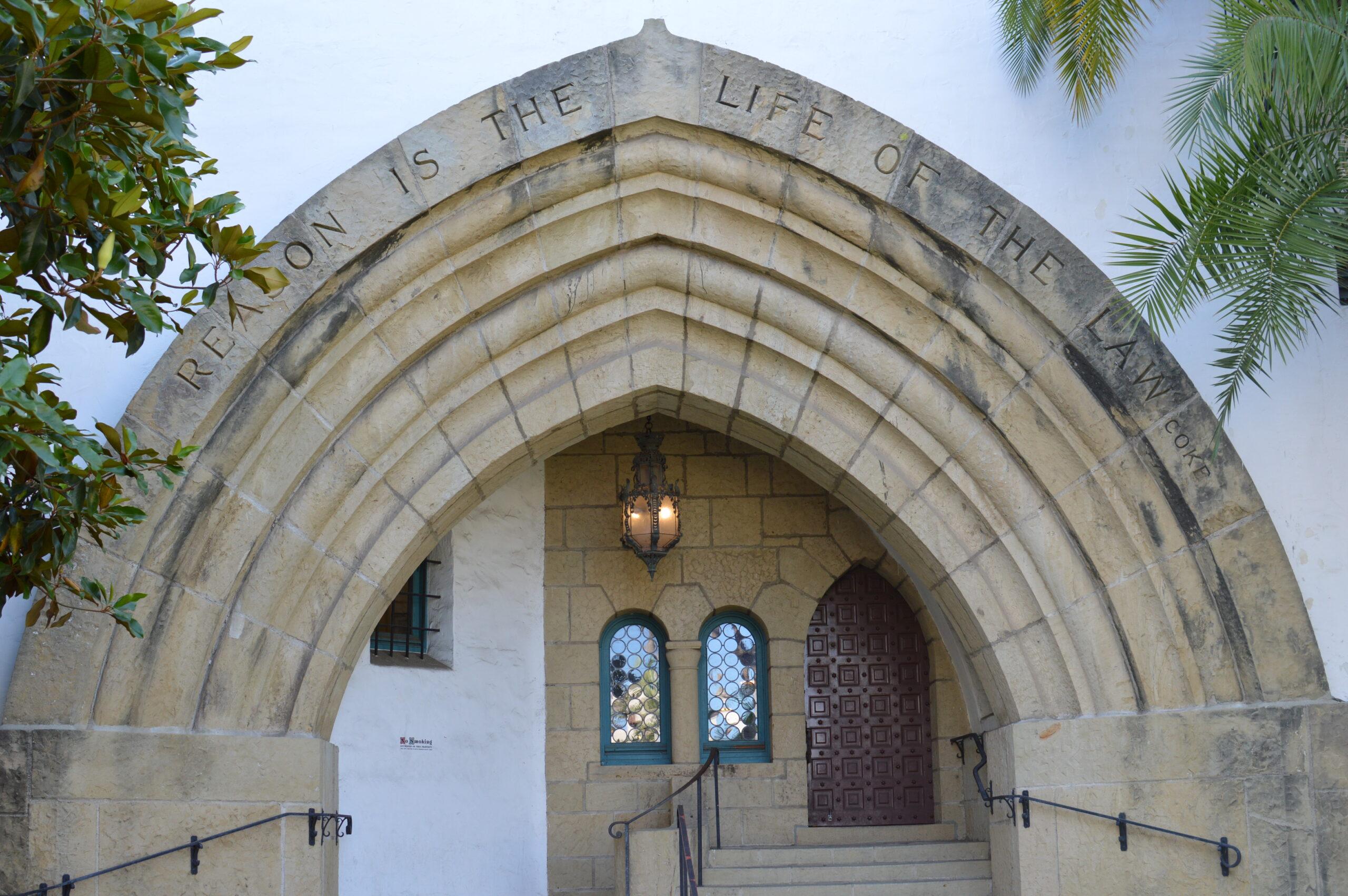 Side entrance to Santa Barbara County Courthouse