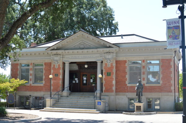 Carnegie Library in Paso Robles Downtown City Park