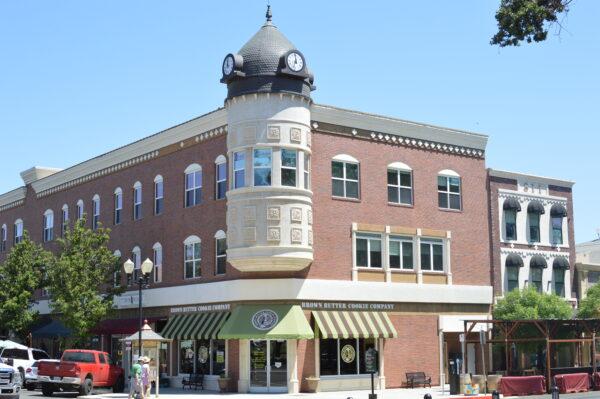 Paso Robles Acorn Building Clock tower